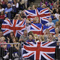 Worlds London 2009: fans from GBR with flags