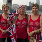Olympic Games London 2012: spectators with GBR-flags