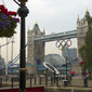 Olympic Games London 2012: Tower Bridge with Olympic Rings