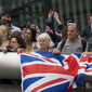 Olympic Games London 2012: spectators with flags