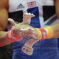 Olympic Games London 2012: detail hands with grips and magnesia