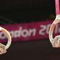 """Olympic Games London 2012: hands with rings and written """"LONDON 2012"""""""