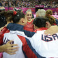 Olympic Games London 2012: team USA celebrating