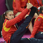 Olympic Games London 2012: BULIMAR Diana Laura/ROU stretching