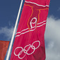 Olympic Games London 2012: flag with artistic sign