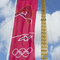 Olympic Games London 2012: olympic flag for reampoline