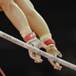 Olympic Games London 2012: detail hands on highbar