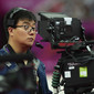 Olympic Games London 2012: cameraman with big eyes