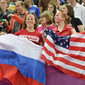 Olympic Games London 2012: fans from USA, RUS