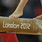 Olympic Games London 2012: detail feet on beam