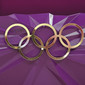 Olympic Games London 2012: Olympic Rings on podium