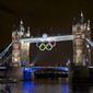 Olympic Games London 2012: London Towerbridge with Olympic Rings