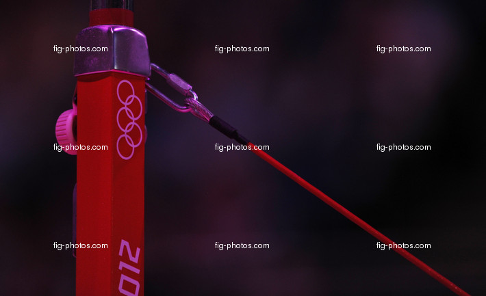 Olympic Games London 2012: uneven bars, Olympic Rings