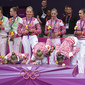 Olympic Games London 2012: group RUS kissing podium