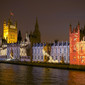 Olympic Games London 2012: projection at Palace of Westminster