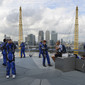 Olympic Games London 2012: crossing the roof from North Greenich