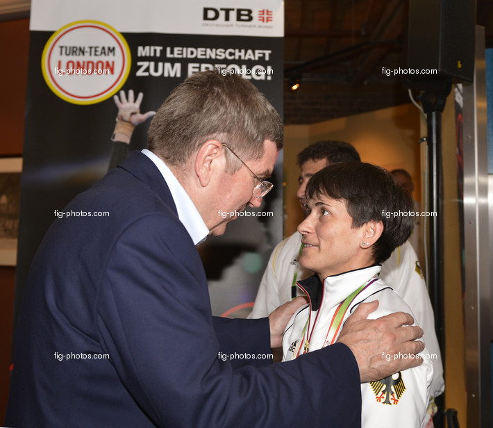 Olympic Games London 2012: Deutsches Haus, Empfang des DTB