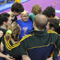 Worlds Trampoline St. Petersburg 2009: team AUS with coach SMYTHE Kerry