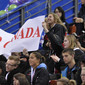 Worlds Trampoline St. Petersburg 2009: fans from CAN with transparent