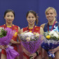 Worlds Trampoline St. Petersburg 2009: Award ceremony trampoline individual women