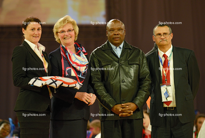 Gym for Life, Cape Town/RSA 2013: FIG flag for Norway