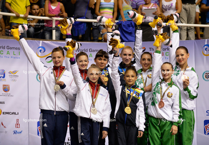 World Games Cali/COL 2013: ACRO podium women's group