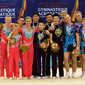 ACRO WCh 2014 Paris/FRA: podium men's group, CHN+GBR+RUS