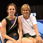 Trampoline WCh Daytona Beach/USA: ZOONEKYND Bianca/RSA + coach and mother Mandy