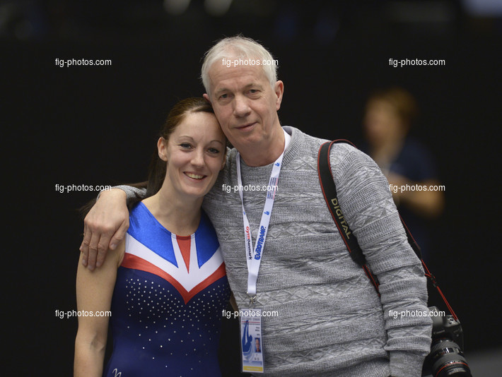Trampoline WCh Odense/DEN 2015: DRISCOLL Katherine/GBR + father DRISCOLL Mike