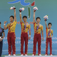 ACRO WCh 2016 Putian/CHN: group CHN celebrating