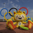 Olympic Games Rio 2016: Olympic mascot VINICIUS + Olympic rings