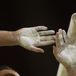 Olympic Games Rio 2016: detail hands parralel bars