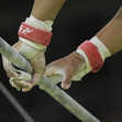 Olympic Games Rio 2016: detail hands at high bar