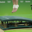Olympic Games Rio 2016: detail feet at vault