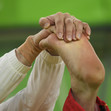Olympic Games Rio 2016: detail foot and hands