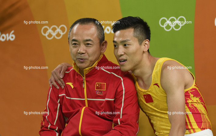 Olympic Games Rio 2016: DONG Dong/CHN + coach