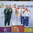The World Games, Wroclaw/POL 2017: ceremony MXP, ESP-HUN-ROU