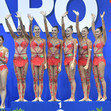 RG WCh Pesaro/ITA 2017: ceremony ball/ropes, group RUS