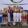 TRA WCh Sofia/BUL: ceremony team final men, CHN+RUS+JPN