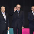 ACRO WCh 2018 Antwerp/BEL: honored guests, ROGGE Jacques former IOC president, TITOV Juri (former FIG president)