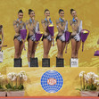 RG WCh Sofia/BUL 2018: award ceremony ball + rope, ITA + RUS + UKR