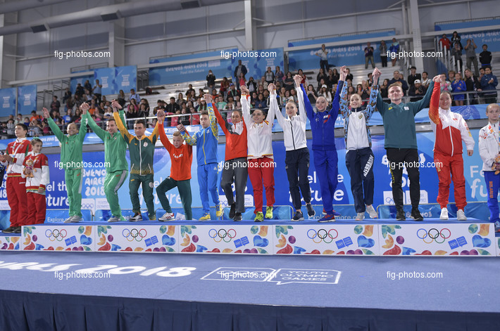 """Youth Olympic Games Buenos Aires/ARG 2018: victory ceremony """"teams"""""""