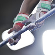 Youth Olympic Games Buenos Aires/ARG 2018: detail hands at high bar