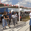 Youth Olympic Games Buenos Aires/ARG 2018: spectators at entrance America Pavilion/gymnastics