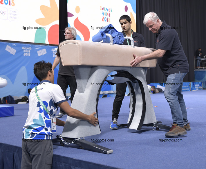 Youth Olympic Games Buenos Aires/ARG 2018: changing apparatus sets