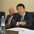 TRA WCh St. Petersburg/RUS 2018: FIG president round table, WATANABE Mori