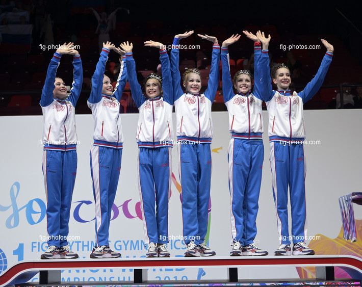 Junior RG WCh Moscow/RUS 2019: group RUS