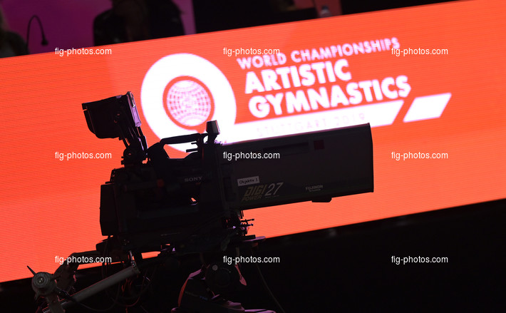 ART-WCh Stuttgart/GER 2019: TV camera + logo