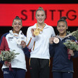 ART-WCh Stuttgart/GER 2019: DERWAEL Nina BEL DOWNIE Rebecca GBR + LEE Sunisa USA