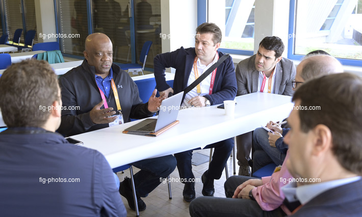 ART-WCh Stuttgart/GER 2019: FIG-President-Round-Table, GALIMORE Ron/USA